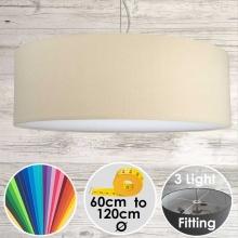 Cara XL Drum Ceiling Light Ivory